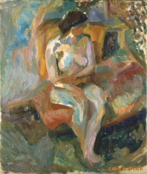 """Huile sur toile - 55x46cm (10F) - 1939 - Signature """"Lutka Pink"""" en bas à droite - Collection privée"""