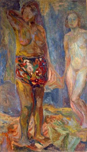 Huile sur toile - 65x38cm - 1939