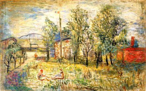 Huile sur toile - 104x66cm - 1939 - Pologne