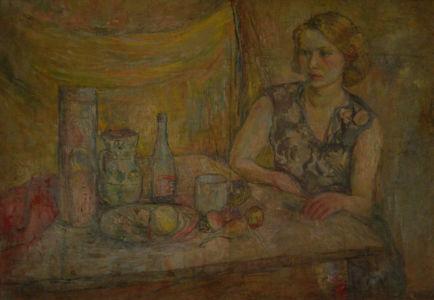 Huile sur toile - 116x81cm - 1938 Pologne - Signature cachet d'atelier au dos - Collection privée