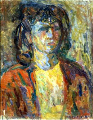 """""""Autoportrait"""" - Huile sur toile - 54x41cm (25P) - 1941 - Signature en bas à droite - Collection privée"""
