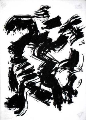 Encre de chine sur papier  - 32x23cm - Signature en bas à droite