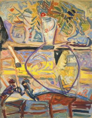 Huile sur papier - 65x50cm - 1944