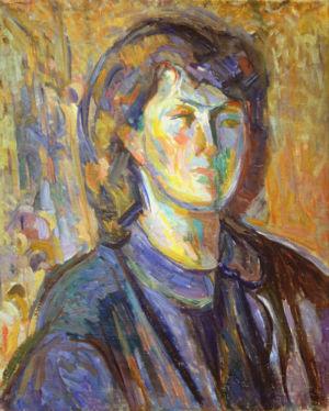 """"""" Autoportrait """" - Huile sur toile - 53x42cm - 1948 - Collection privée"""