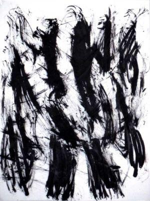 Encre de chine sur papier - 50,5x38cm - Signature en bas à gauche