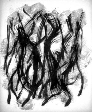 Encre de chine sur papier - 53,5x44cm - Signature en bas à droite