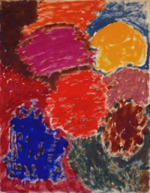 Gouache sur papier - 65x50cm - 1964