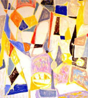 Gouache sur papier - 61x53cm - 1952