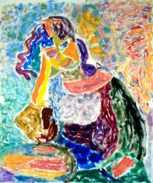 Huile sur papier - 61x50,5cm - New York - 1990