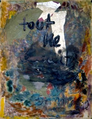 Technique mixte et collage sur papier - 63x48cm - 1963