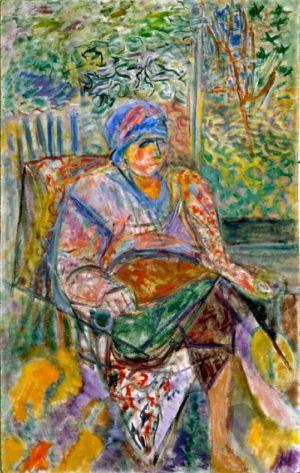 """"""" Portrait de celine """" - Huile sur isorel - 114x72cm (50M) - 1985"""