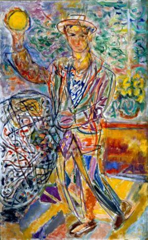 """"""" Portrait d'Hocuxe """" - Huile sur Isorel - 114x71cm (50M) - 1985"""