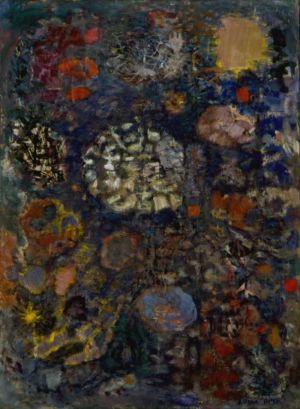 Huile sur toile - 100x73cm (40P) - 1960 - Signature en bas à droite