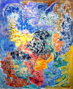 Huile sur toile - 100x81cm (40F) - 1962 - Signature en bas à droite