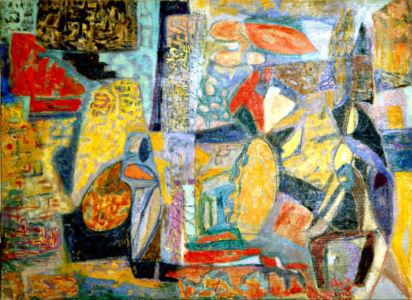 Huile sur toile - 100x71cm (40P) - 1949 - Signature en bas à droite
