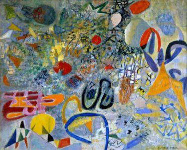 """"""" Merveilles sous marines """" - Huile sur toile - 100x81cm - 1954 - Signature en bas à droite - Rachetée par l'artiste en vente publique à Drouot - Collection privée"""