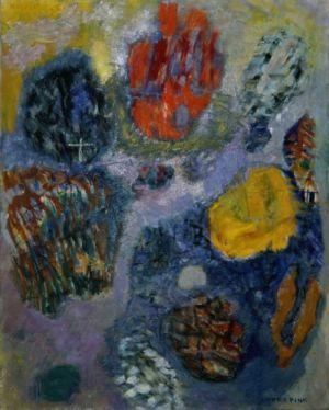 """"""" Exp fr prix inter de Deauville """" - Huile sur toile - 92x73cm (30F) - 1963 - Signature en bas à droite"""