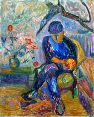 """"""" Le portrait de tan """" - Huile sur toile - 92x73cm (30F) - 1991"""