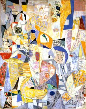 """""""Salon de Mai 1954"""" - Huile sur toile - 116x789cm (50F)- 1952 - Exposée au salon de Mai 1951 - Signature en bas à droite. Collection privée"""