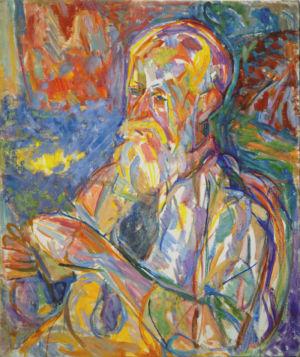 """"""" Portrait d'homme """" - Huile sur toile - 65x53cm  (15F) - 1948"""