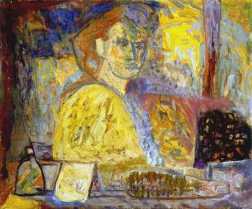 """"""" Portrait de femme"""" - Huile sur toile - 65x53cm (15F) - 1949"""