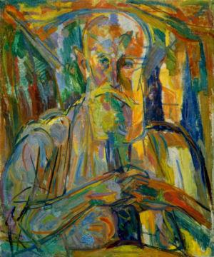 """"""" Portrait d'homme à la barbe """" - Huile sur toile - 61x50cm (12F) - 1946"""