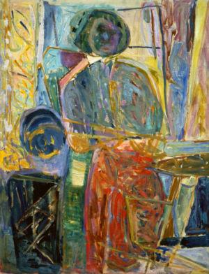 """"""" La femme au salon """" - Huile sur toile - 61x46cm (12P) - 1948 - Collection privée"""