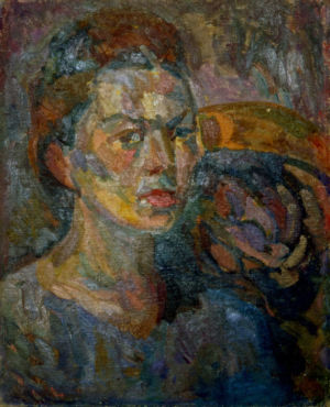 """""""portrait de femme"""" - Huile sur toile - 46x37cm (8F) - 1942"""