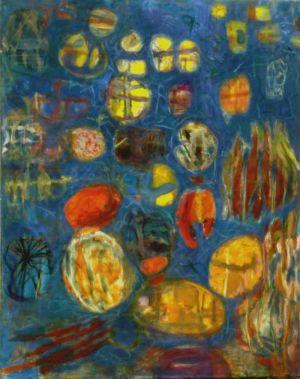 """Huile sur toile - 146x114cm (80F) - 1964 - Au dos """"64/65 Lutka Pink 59 Ave de Saxe 75007"""""""