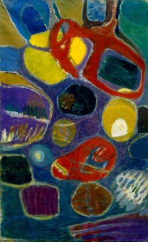 """Huile sur toile - 146x89cm (80M) - 1965 - Au dos """"65"""""""