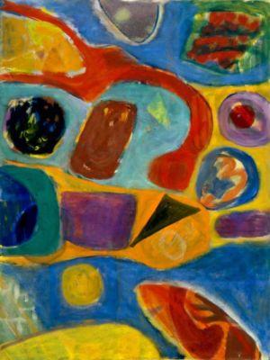 """Huile sur toile - 130x97cm (60F) - 1967 - Au dos """"67"""""""
