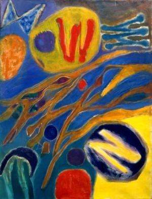 """Huile sur toile - 130x97cm (60F) - 1966 - Au dos """"66"""""""