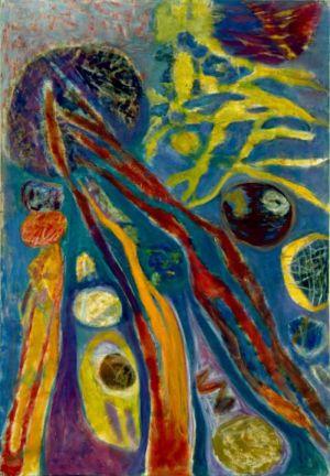 """Huile sur toile - 130x89cm (60P) - 1965 - Au dos """"65"""""""
