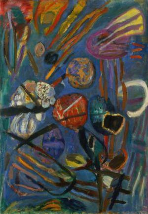 """Huile sur toile - 130x89 (60P) - 1964 - Au dos """"64"""""""