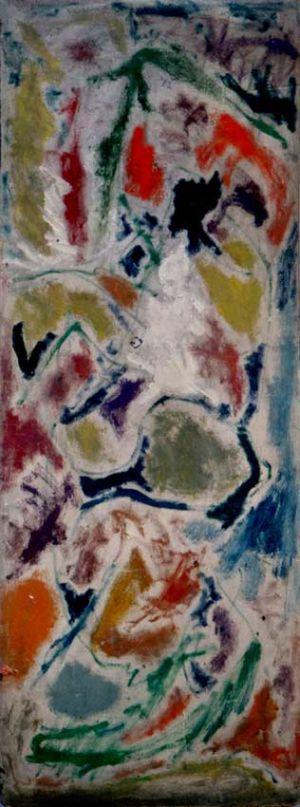 Huile sur isorel - 136x50cm - 1965