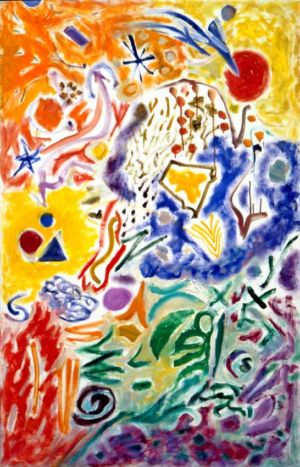 """Huile sur toile - 116x73cm - 1994 - Au dos """"94 NY"""""""