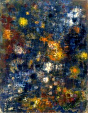 """Huile sur toile - 116x88cm - 1959 - Au dos """" La Seine 59/60 Lutka Pink """""""