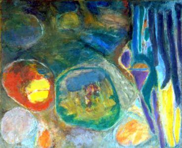 """Huile sur toile - 60x73cm (20F) - 1967 - Au dos """"67 - 40P"""""""