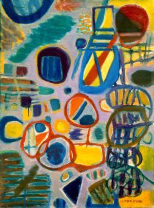 """Huile sur toile - 100x73cm (40P) - 1967 - Au dos """"67 Lutka Pink 59 ave de Saxe Paris 75007""""- Signature en bas à droite"""