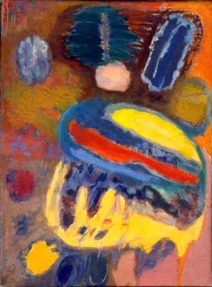 """Huile sur toile - 100x73cm (40P) - 1962 - Au dos """" 62 Lutka Pink 59 ave de Saxe Paris 75007 """""""