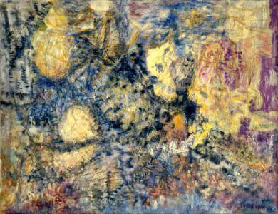 """Huile sur toile - 100x77cm - 1955 - """" Au dos / 1955. Lutka Pink 59 ave de Saxe 75007 """" - Signature en bas à droite"""