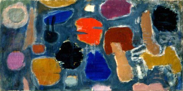 """Huile sur toile - 80x40cm - 1960 - Au dos """"60"""""""