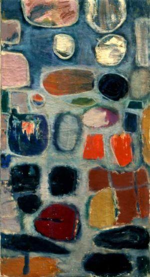 """Huile sur toile - 75x40cm - 1960 - Au dos """"60"""""""