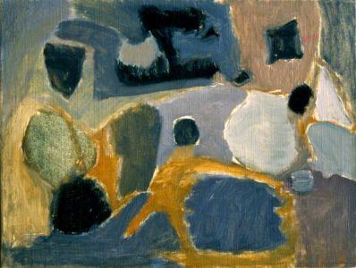 """Huile sur toile - 65x50cm - 1960 - Au dos """"60"""""""