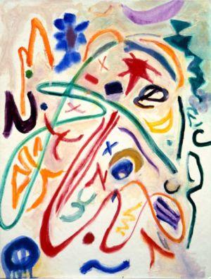 Huile sur toile cartonnée - 61x55,5cm - 1993