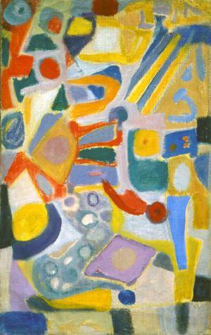 """Huile sur toile - 61x38cm - 1948 - Au dos """"48"""""""