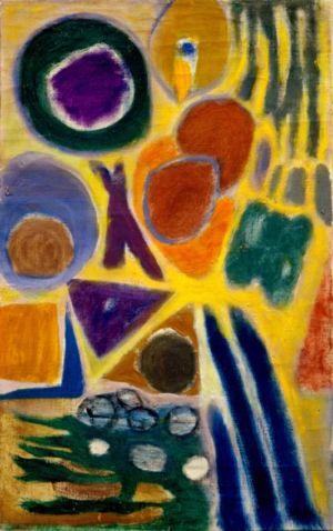 """Huile sur toile - 61x38cm (12M) - 1966 - Au dos """"66"""""""