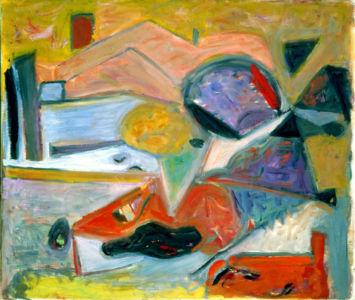 """Huile sur toile - 55x46cm (10F) - 1949 - Au dos """"49"""""""