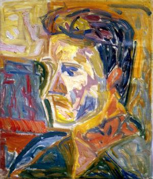 """Huile sur toile - 36x30,5cm - 1948 - Au dos """"Breton Aix 1948"""""""