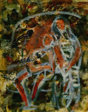 Huile sur toile cartonnée - 35x27cm (5F) - 1946 au dos